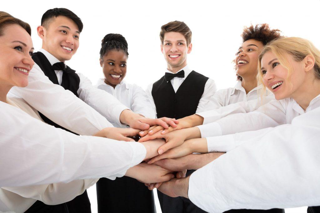 group hands together
